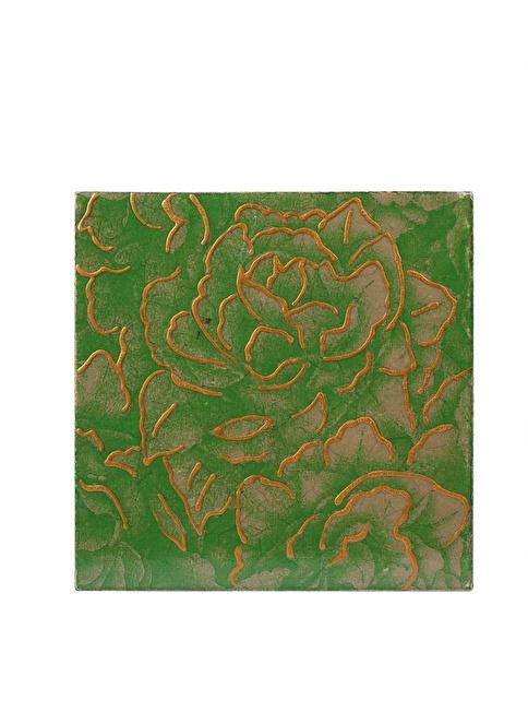 Dekorazon Green Rose Duvar Aksesuarı Renkli